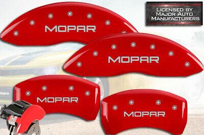 "2011-2020 Dodge Challenger R/T Front + Rear Red ""Mopar"" MGP Brake Caliper Covers"
