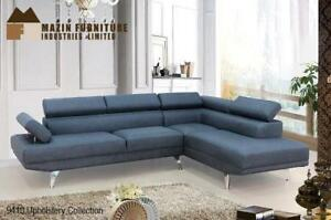 Sectional in Grey Fabric - At Lowest Price (BD-2466)