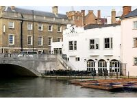 Full & Part time bartenders wanted at The Anchor, Cambridge - Good rates of pay- Immediate start