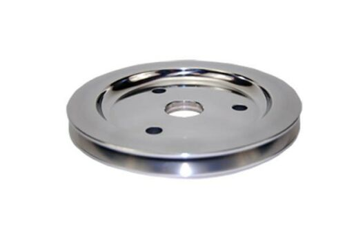Small-Block-Chevy-Polished-Aluminum-crank-shaft-Pulley-single-groove-billet-lowe