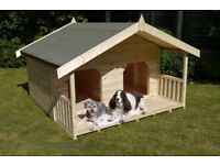 Luxury Double Dog Kennel Summerhouse for 2 dogs