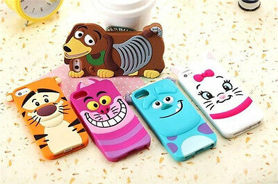 3D Cartoon Disney Silicone Rubber Back Case Cover For Apple iPhone4S 5S 6 6 plus