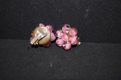 Usado, VINTAGE 1950er 50s Pendientes Rosado Perlas cristal Murano ABALORIOS DE FUCSIA segunda mano  Embacar hacia Spain