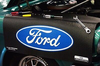 Ford Black Oval car mechanics fender cover paint protector vintage style ()