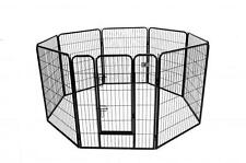 New BestPet Black 40 8 Panel Heavy Duty Pet Playpen Dog Exercise Pen Cat Fence