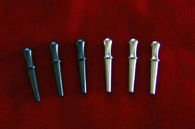 6 Solid Metal Cribbage Board Pegs - FREE SHIPPING