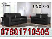 SOFA Italian leather 3+2 sofa black or brown 1