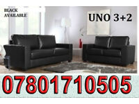 SOFA Italian leather 3+2 sofa black or brown 241