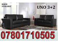 SOFA Italian leather 3+2 sofa black or brown 626