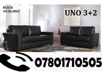 SOFA Italian leather 3+2 sofa black or brown 79041