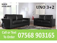 SOFA Italian leather 3+2 sofa black or brown 07
