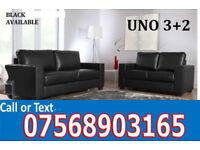 SOFA HOT OFFER Italian leather black or brown sofa set 3065