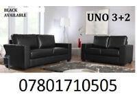 SOFA SALE Italian leather 3+2 sofa black or brown 42