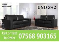 SOFA HOT OFFER Italian leather black or brown sofa set 3033