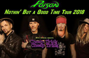 Poison with Cheap Trick..Cheap Floor General Admission