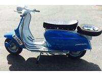 1966 lambretta li150 special, registered 125cc- mot, uk 125 registered with v5 log book