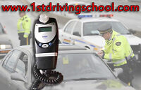 Approved school car with in-car breathalyzer for test in Toronto