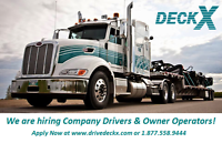 DECKX WEST- HIRING CLASS 1 COMPANY DRIVERS FOR CANADA / USA RUNS