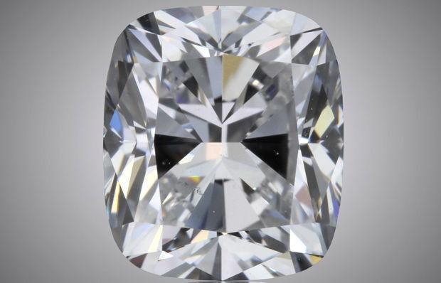 3.01 carat Cushion cut Diamond GIA report K color SI1 clarity loose