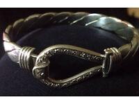 Mens Heavy white gold bracelet, 9ct