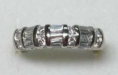 1/2ct  Natural (real)  DIAMOND band RING Solid 14 KT white  gold