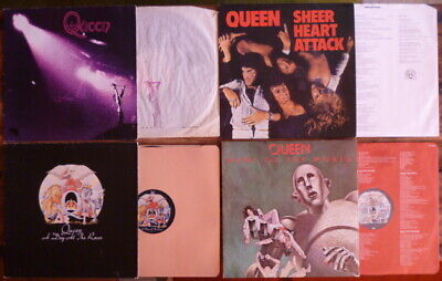 QUEEN Job Lot I Sheer Heart Attack Day At The Races News Of The World PYE 1st