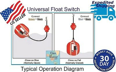 BRODY Float Switch Automatic Water Level Sensor Control with10 ft.cable NC or NO