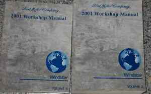 2001 ford windstar mini van service shop repair manual set. Black Bedroom Furniture Sets. Home Design Ideas