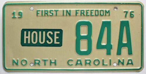 North Carolina 1976 HOUSE OF REPRESENTATIVES License Plate, Political Government