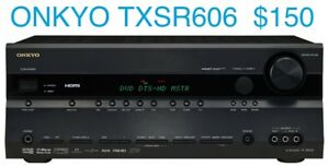 Onkyo TXSR-606  90 Watt RMS x 7 Zone 2 4 x HDMI 1 OUT