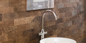 Cork wall panels do aesthetic lovely with sound blocking,