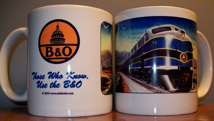 B & O RAILROAD  / BALTIMORE & OHIO RAILROAD COFFEE MUG / trains cup