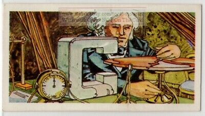 Faraday Dynamo Electricity Inventor Magnetic  Induction Vintage Trade Ad Card