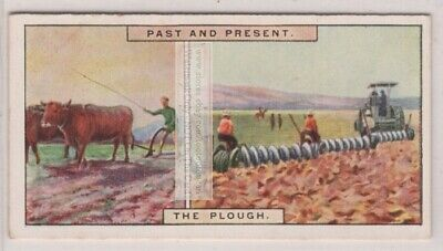 Oxen Pulled Wood Plough And 1920s Disk Plows 85 Yo Trade Ad Card