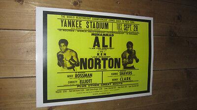 Muhammad Ali Ken Norton Repro Boxing POSTER