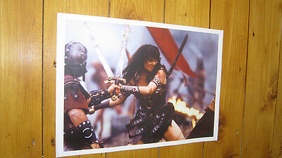 Xena Warrior Princess Lucy Lawless Fighting POSTER