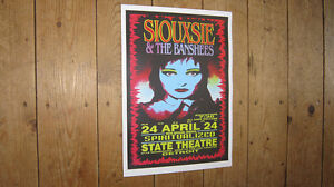 Siouxsie and the Banshees State Theatre Repro Tour Poster
