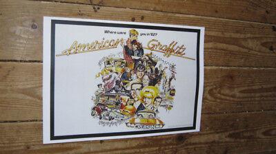 Aufkleber & Sticker Poster Plakat Aufkleber Sticker 1978 George Lucas American Graffiti