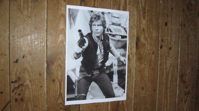 Star Wars Han Solo Harrison Ford Action BW POSTER
