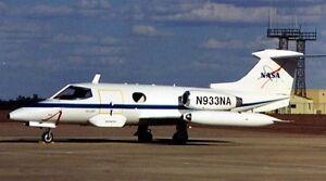 23 business learjet 23 airplane wood learjet23 model nasa small new