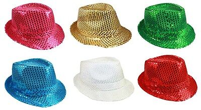 Fedora Trilby Hats - Women Hats -  Sequined Hats Party Hats  (FedHat67 ^*) - Sequin Fedora