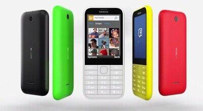NEW NOKIA 225 UNLOCKED MOBILE PHONE MULTI-COLOUR SIM FREE - DUAL SIM UK