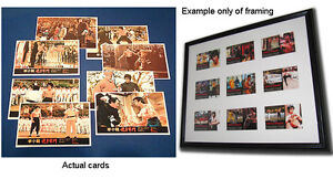 Enter the Dragon Bruce Lee Rare Post Cards (Chinese) FULL SET