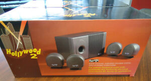 2 SETS OF HIGH QUALITY COMPUTER SPEAKERS w/ SUBWOOFERS (NEW)!