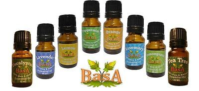 Set of 8 - 100% Pure & Natural Essential Oils - 10 ML EACH - Free Shipping