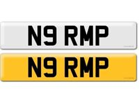 Cherished private number plate N9 RMP on retention