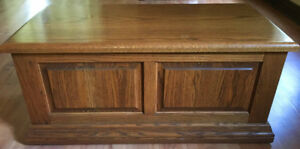 Solid Oak Blanket Box; made by Munro