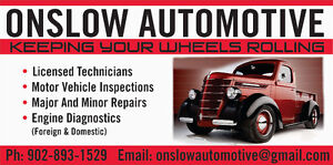 ONSLOW AUTOMOTIVE  902-893-1529