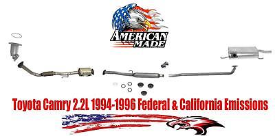 New Exhaust System MADE IN USA for Toyota Camry 22L 4 Doors Sedan 1994 1996 All