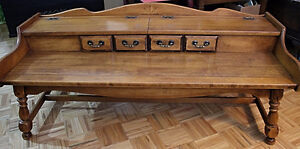 Solid Wooden Coffee Table w Built in Storage Area
